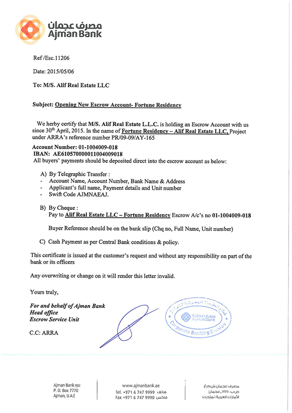 Legal Documents Alif Real Estate - Real estate legal documents